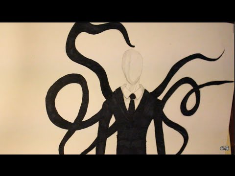 Slender Man Easy Drawing How to Draw Slenderman Easy