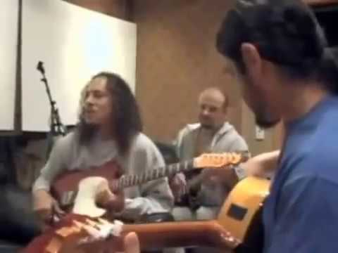 Robert Trujillo Plays Flamenco On An Acustic Guitar