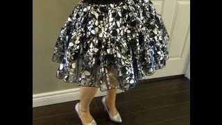 How to Make a Tutu/Petticoat Skirt Tutorial Lolita Anime K-pop f(x) Betsey Johnson Inspired
