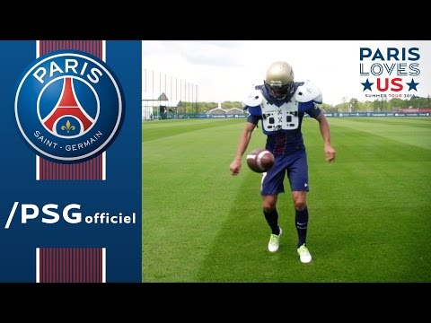 D-30 USA : HERE WE COME ! with Lucas, Thiago Silva and Edinson Cavani AMERICAN FOOTBALL