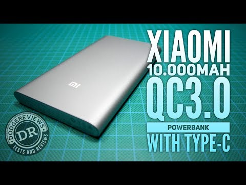 Xiaomi 10.000mAh QC3.0  powerbank w/ Type-C input on the bench
