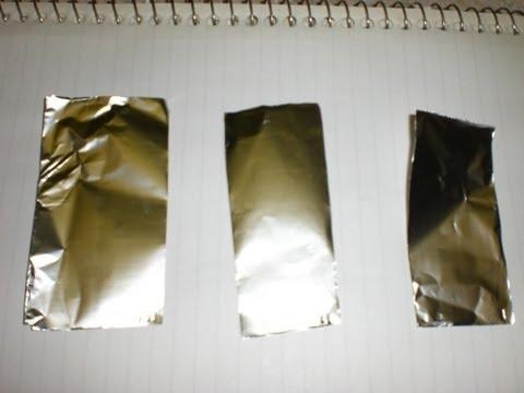 Ultrasonic Cleaner Foil Test