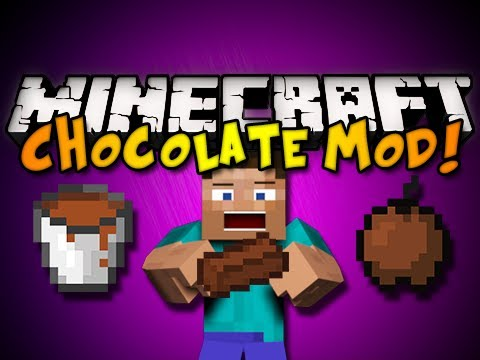 Minecraft: Chocolate Mod - CHOCOLATE BARS, ARMOR, APPLES & MORE! (HD)