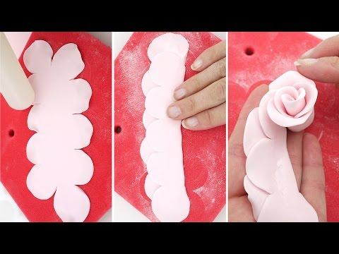 Розы из мастики своими руками
