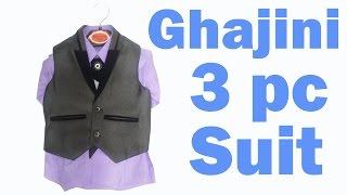 Baby boy 3 piece suit Kids Clothing Fashion Ghajini suit Waist coat boy suit