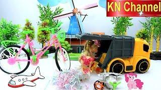 KN Channel BÚP BÊ GIẢI CỨU PONY NGỰA TIÊN CỦA BÉ NA Đồ chơi trẻ em về phương tiện giao thông