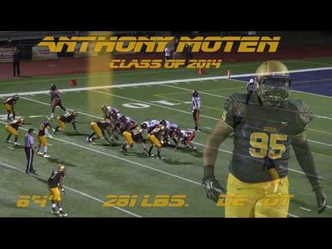 Anthony Moten Highlight 4, 2012 Junior Highlights, St. Thomas Aquinas Defensive End & Defensive Tackle, Class of 2014, Committed to Florida Gators.