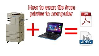 How to Scan document from printer to computer Canon C5052i | C5055i | C5255i