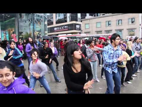 Naach Radio Flash Mob (official Video), Outside Eaton Centre, Yonge & Dundas, Toronto video