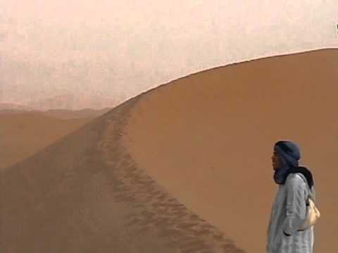 Playing in the Merzouga Dunes in the Sahara Desert, Morocco