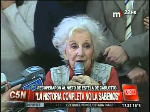 Conferencia de prensa de la recuperación del nieto de Estela de Carlotto