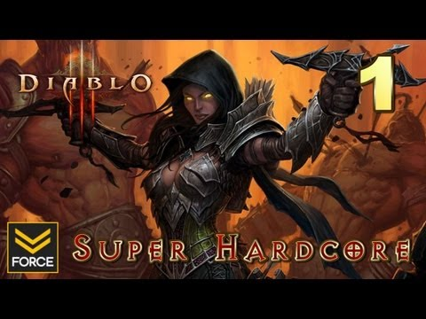 Diablo 3 Beta - SUPER HARDCORE Demon Hunter (Gameplay) Part 1