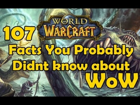 107 Facts You Probably Didnt know about WoW