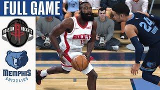 Rockets vs Grizzlies Full Game Highlights! January 14, 2020 NBA Season | NBA 2K20