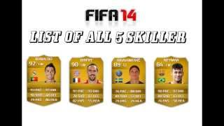 جميع لاعبي فيفا 14 أصحاب 5 نجوم مهارات | ALL FIFA 14 5 star skillers