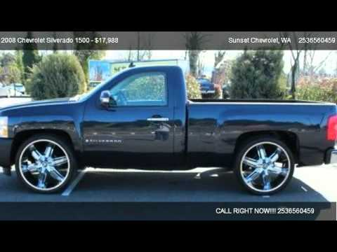 2008 chevrolet silverado 1500 1500 work truck for sale in sumner wa 98390 youtube. Black Bedroom Furniture Sets. Home Design Ideas
