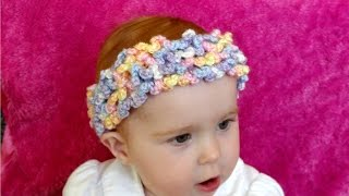 Download How to crochet a loopy, ruffle, frilly headband 3Gp Mp4