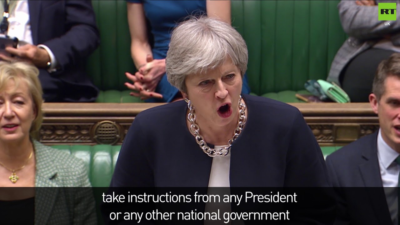 May denies taking instructions from Trump over Syria