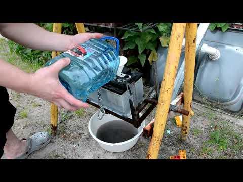 Замена электролита в аккумуляторе ( Replacement battery electrolyte )