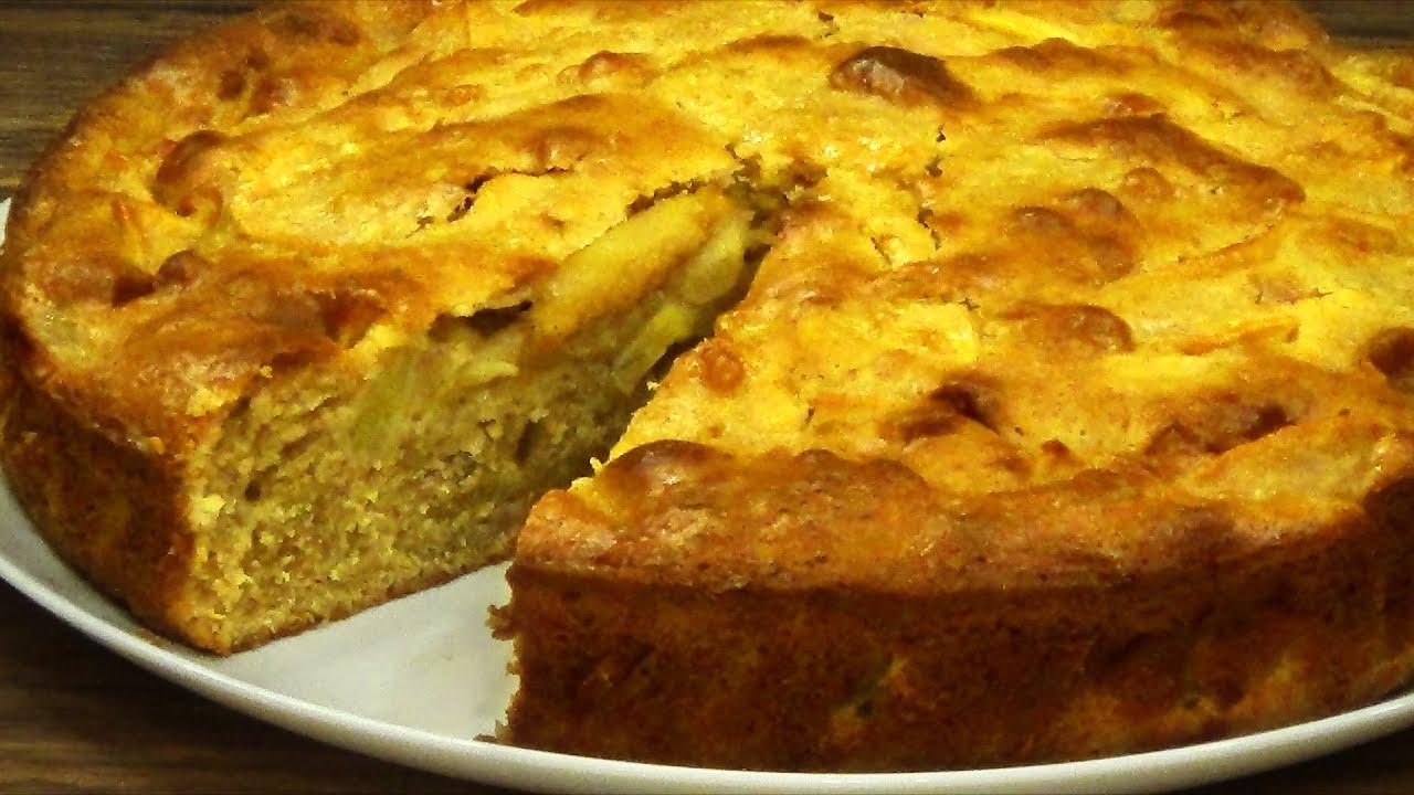 Ютуб пирог с яблоками рецепты