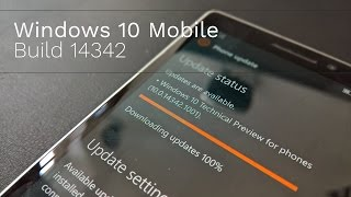 Windows 10 Mobile Build 14342: Store, Swipe Actions & Feedback Hub