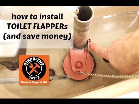 How to Replace a Toilet Flapper Valve -- by Home Repair Tutor