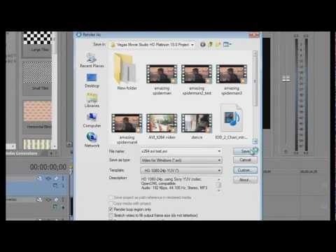 Sony Vegas Best 8/9/10/11 HD settings Super Compression and great quality | AVI + H264 + X264 + MP4