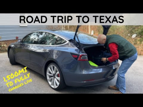 Model 3 Road Trip Halfway Across the Country to Texas!