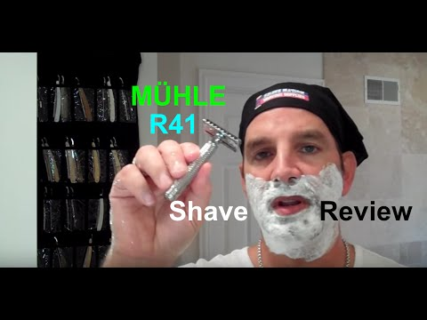 MUHLE R41 * SHAVE WITH A RAKE AND SOME ROCK * DIVIDE AND CONQUER YOUR BEARD!!! MUEHLE