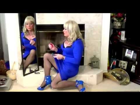 Tgirl Makeup In Black &amp  Blue  Hd  Matty Caff Tgirl Crossdresser Transvestite