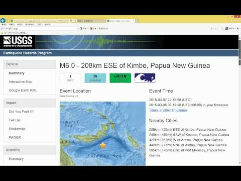 如何用 USGS 查詢全球地震 How to Look Up Global Earthquakes by USGS