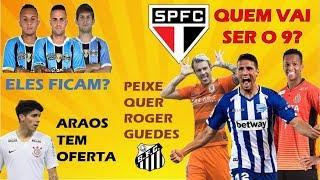 Calleri, Jô ou Roger Guedes no SP? / Novo alvo do Santos / Bolzan fala de mercado / Araos tem oferta