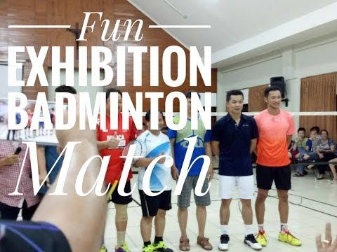 Aksi legend Taufik Hidayat, Frans K, Edy Hartono, Lioe Tiong Ping || Fun Exhibition Badminton Match thumbnail