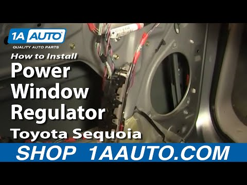 How To Install Replace Power Window Regulator Toyota Sequoia 01-04 1AAuto.com