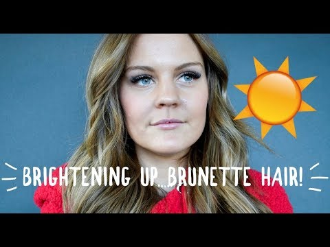 ADDING HIGHLIGHTS TO BRUNETTE HAIR! BRONDE HAIR
