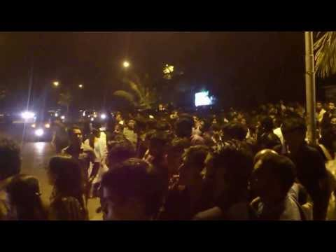 Crowd Outside Salman Khan Home Galaxy Apartment - Salman Birthday video