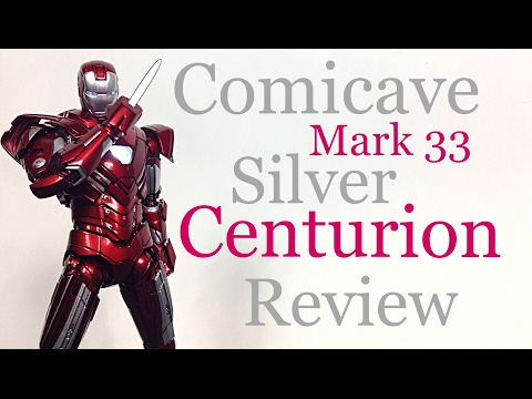 Comicave Studios Iron Man 3 MARK 33 SILVER CENTURION  IRON MAN Action Figure Review Toy Review