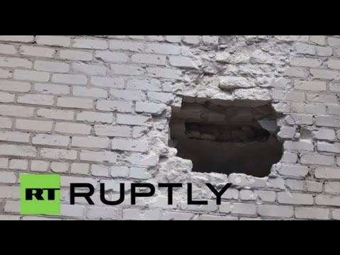 Ukraine: Children's hospital shelled in Slavyansk