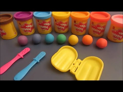 Rainbow Popsicle and Chocolate Popsicle playdough playset - Picolés de massinha de modelar Estrela