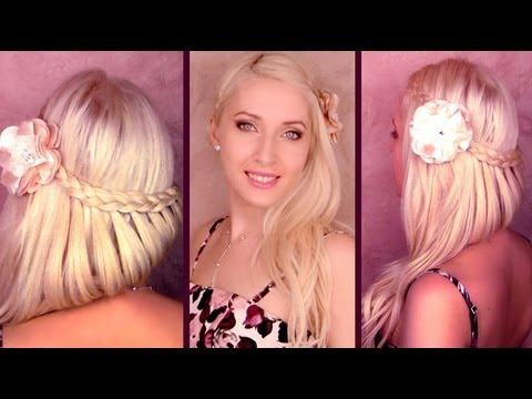 Braided Prom Hairstyle For Medium Long Hair Wedding Half Up Half Down Do With Curls