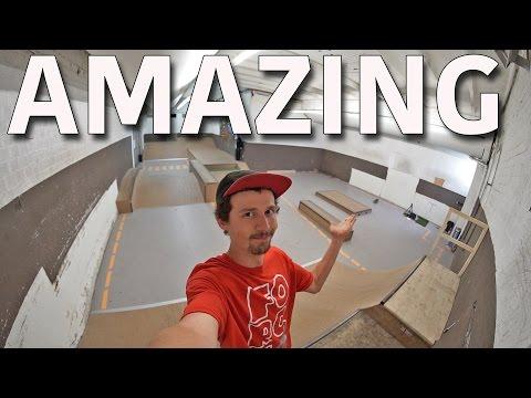 Amazing D.I.Y Indoor Skatepark!