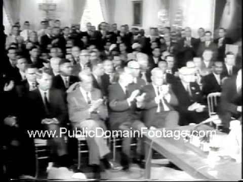 LBJ President Johnson Signing of Civil Rights Act Newsreel PublicDomainFootage.com