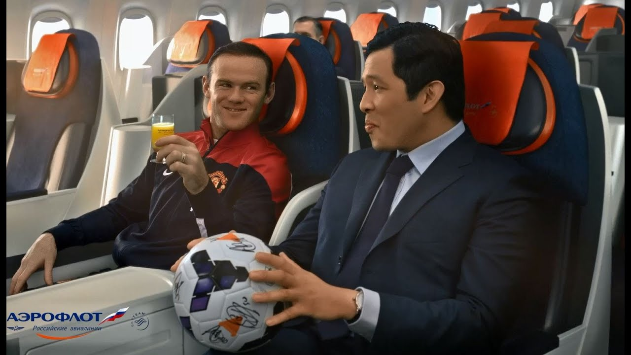 Игроки Manchester United в ролике Аэрофлота / Manchester United players in Aeroflot's video