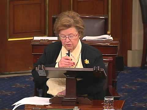 Senator Mikulski speaks on the Senate floor about Senator Lieberman