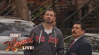 Jimmy Kimmel & Guillermo Break Kelly Ripa and Ryan Seacrest's Window