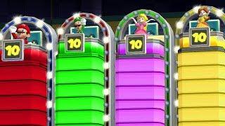 Mario Party 9 MiniGames - Mario Vs Luigi Vs Peach Vs Daisy (Master Difficulty)