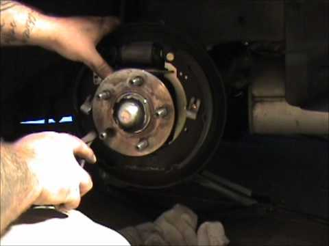 replace rear brake shoes on    PT       Cruiser     YouTube