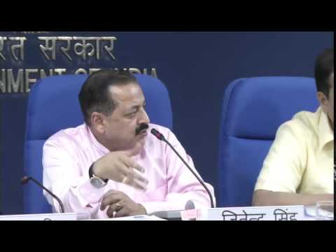 Press Conference by Shri Dr. Jitendra Singh on completion of one year of the Union Govt.