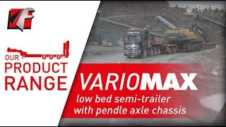 FAYMONVILLE VarioMAX - Low bed semi-trailer with pendle axle chassis
