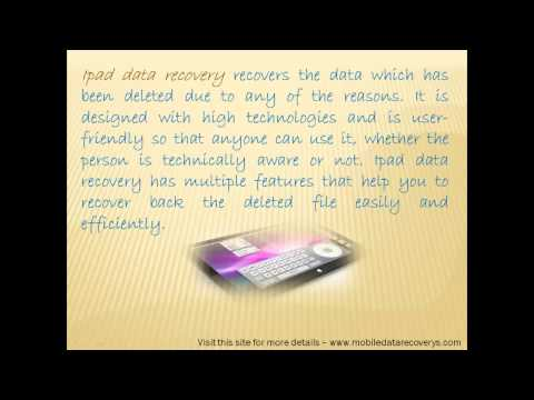best ipad data recovery tool